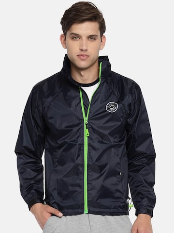 Sports52 wear Men Navy Solid Hooded Rain Jacket Sports52 wear Rain Jacket at myntra
