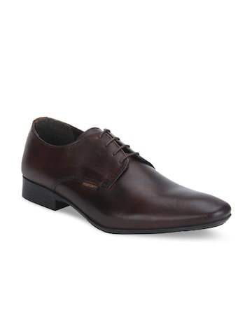 Red Tape Men Brown Leather Derbys Red Tape Formal Shoes at myntra