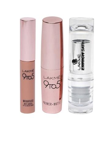 Lakme Set of 2 Lipsticks and Lip Crayon Lakme Lipstick at myntra