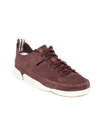 Clarks Women Burgundy Sneakers Clarks Casual Shoes at myntra