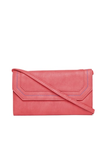 Baggit Women Red Solid Two Fold Wallet with Sling Strap Baggit Wallets at myntra