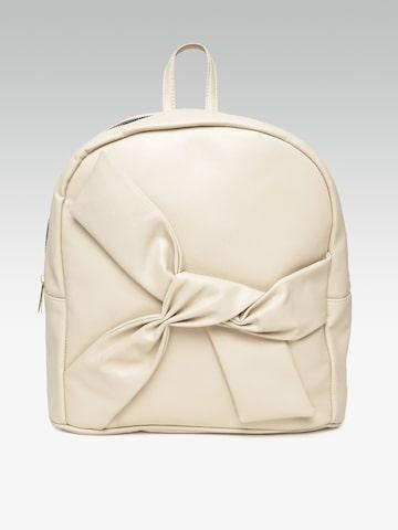 20Dresses Women Beige Solid Backpack 20Dresses Backpacks at myntra