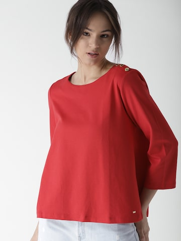 Tommy Hilfiger Women Red Solid A-Line Top Tommy Hilfiger Tops at myntra