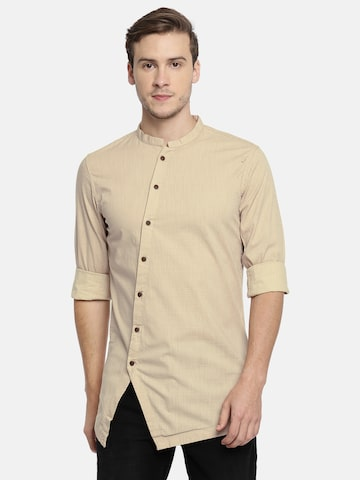 The Indian Garage Co Men Khaki Printed Straight Kurta The Indian Garage Co Kurtas at myntra