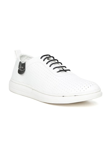 Duke Men White Perforated Sneakers Duke Casual Shoes at myntra