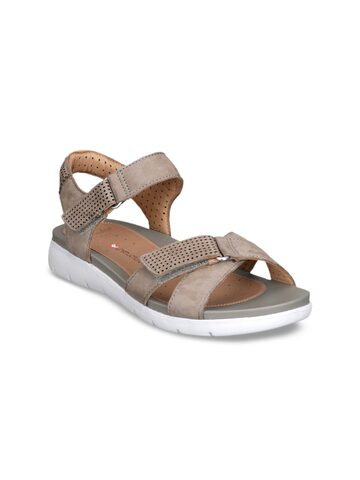 Clarks Women Beige Comfort Sandals Clarks Sandals at myntra