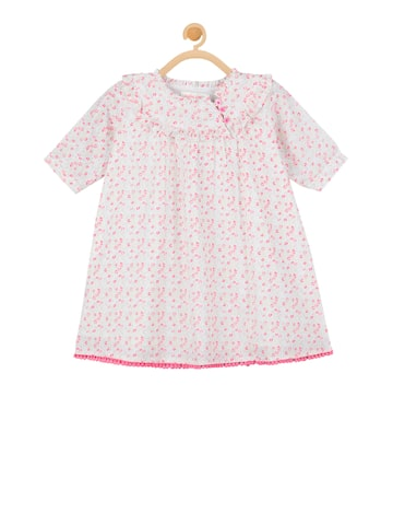 Budding Bees Girls Off-White Printed A-Line Top Budding Bees Tops at myntra