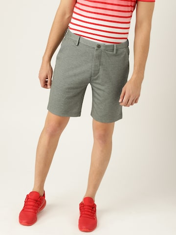 United Colors of Benetton Men Grey Solid Slim Fit Regular Shorts United Colors of Benetton Shorts at myntra