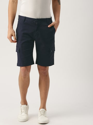 United Colors of Benetton Men Navy Blue Solid Slim Fit Cargo Shorts United Colors of Benetton Shorts at myntra