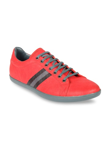 Franco Leone Men Red Sneakers Franco Leone Casual Shoes at myntra