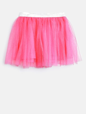 612 league Girls Pink Net Flared Skirt 612 league Skirts at myntra