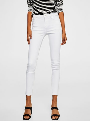 MANGO Women White Perfect Skinny Fit Mid-Rise Clean Look Stretchable Jeans MANGO Jeans at myntra