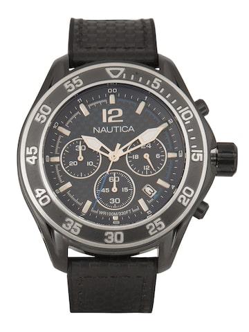 Nautica Men Black Analogue Watch XAO3M105WL6 Nautica Watches at myntra