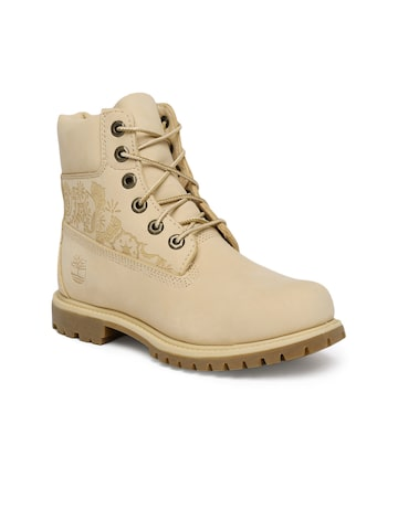 Timberland Women Beige Premium Waterproof Boots Timberland Casual Shoes at myntra
