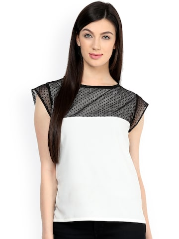 Pannkh Women White Self Design Top Pannkh Tops at myntra