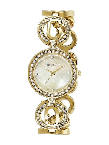 GIORDANO Women Gold-Toned Analogue Watch GIORDANO Watches at myntra