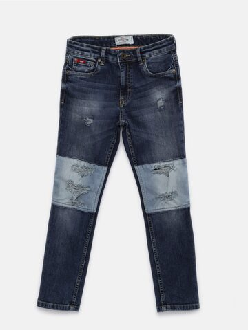 Lee Cooper Boys Blue Slim Fit Mid-Rise Mildly Distressed Jeans Lee Cooper Jeans at myntra