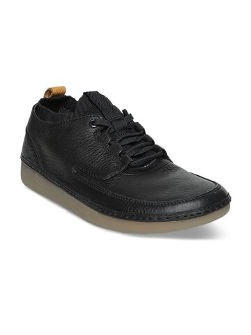 Clarks Men Black Leather Sneakers Clarks Casual Shoes at myntra