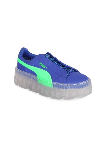 Puma Women Blue Cleated Creeper Surf Wns Leather Sneakers Puma Casual Shoes at myntra