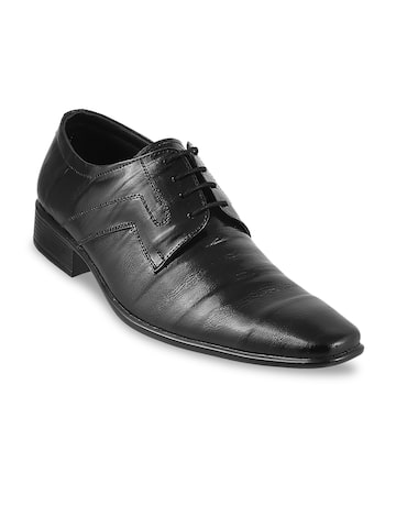 Mochi Men Black Formal Leather Derbys Mochi Formal Shoes at myntra