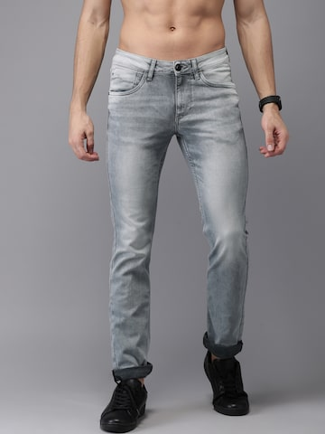 Flying Machine Men Grey Skinny Fit Mid-Rise Clean Look Stretchable Jeans Flying Machine Jeans at myntra