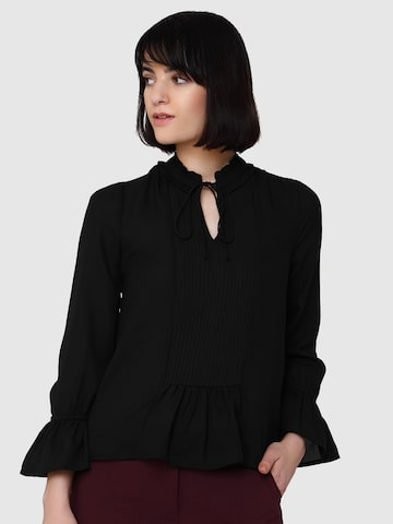 Vero Moda Women Black Semi-Sheer Top Vero Moda Tops at myntra
