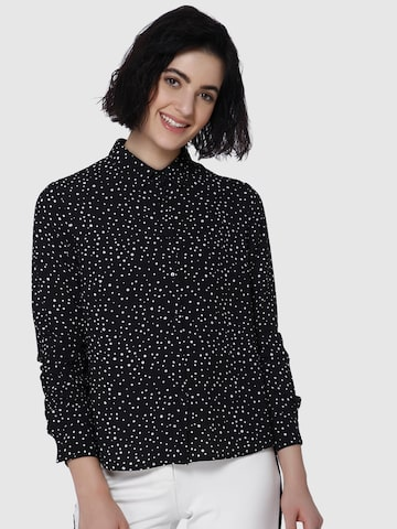 Vero Moda Women Black Regular Fit Printed Casual Shirt Vero Moda Shirts at myntra