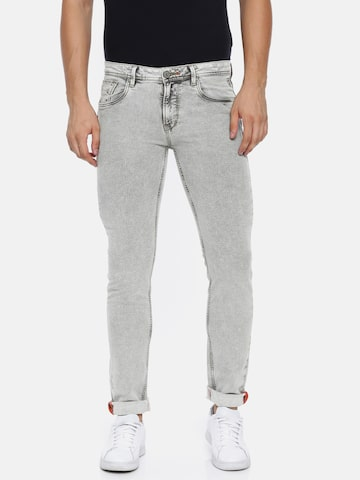 Killer Men Grey Fontana Skinny Fit Mid-Rise Clean Look Stretchable Jeans Killer Jeans at myntra