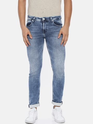 Killer Men Blue Cyrus Slim Fit Mid-Rise Clean Look Stretchable Jeans Killer Jeans at myntra