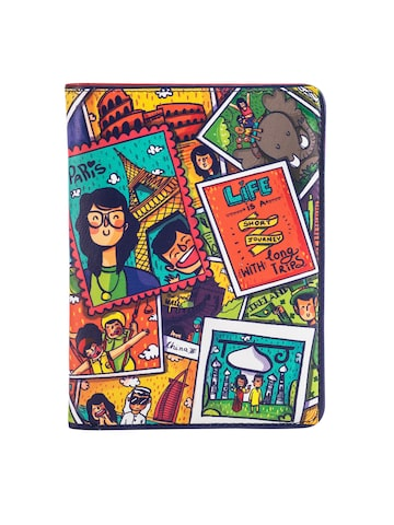 Chumbak Women Multicoloured Live To Travel Printed Two Fold Passport Holder Chumbak Wallets at myntra