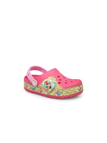 Crocs Girls Pink Clogs Crocs Sandals at myntra