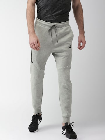 Nike Men Grey AS M NSW TCH FLC JGGR Slim Fit Joggers Nike Track Pants at myntra