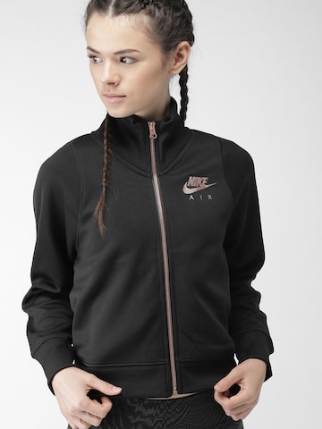 Nike Women Black AS W NSW AIR N98 JKT PK Solid Sporty Crop Jacket Nike Jackets at myntra