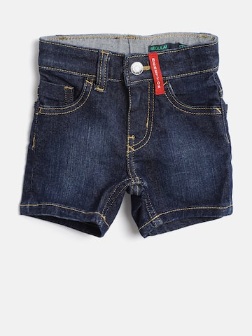 United Colors of Benetton Boys Navy Blue Solid Regular Fit Denim Shorts United Colors of Benetton Shorts at myntra