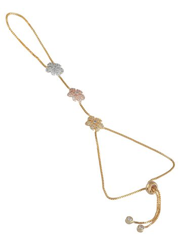 Sia Art Jewellery Gold-Plated Embellished Ring Bracelet Sia Art Jewellery Bracelet at myntra