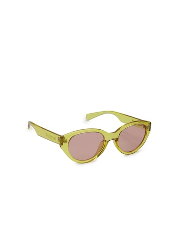 Polaroid Women PLD 6051/G/S 40G 520F Oval Sunglasses Polaroid Sunglasses at myntra