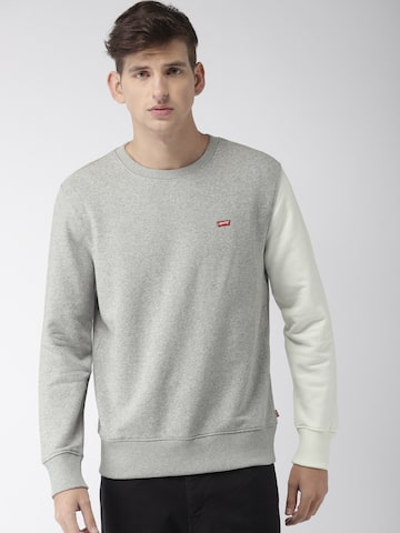 Levis Men Grey Melange Solid Sweatshirt Levis Sweatshirts at myntra