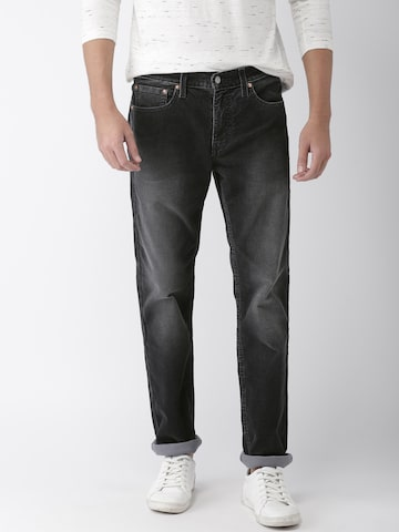 Levis Men Black 511 Slim Fit Mid-Rise Clean Look Corduroy Jeans Levis Jeans at myntra