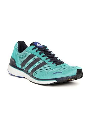 Adidas Men Green Adizero Adios 3 Running Shoes Adidas Sports Shoes at myntra