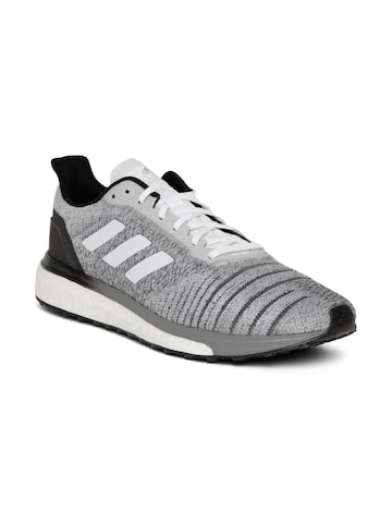 Adidas men Grey Melange Solar Drive Running Shoes Adidas Sports Shoes at myntra