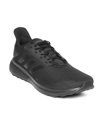Adidas Men Black DURAMO 9 Running Shoes Adidas Sports Shoes at myntra
