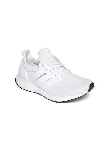 Adidas Women Off-White Ultraboost Woven Design Running Shoes Adidas Sports Shoes at myntra