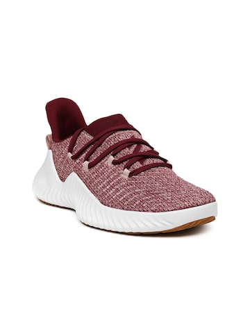 Adidas Women Maroon ALPHABOUNCE Training Shoes Adidas Sports Shoes at myntra