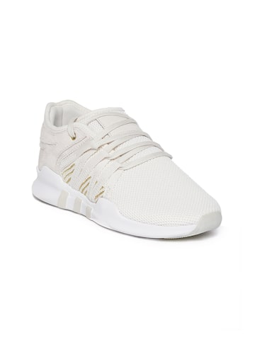 Adidas Originals Women Off-White EQT ADV Racing Sneakers Adidas Originals Casual Shoes at myntra