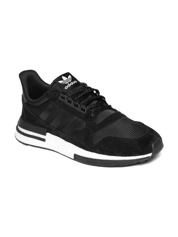 Adidas Originals Men Black ZX 500 RM Suede Sneakers Adidas Originals Casual Shoes at myntra