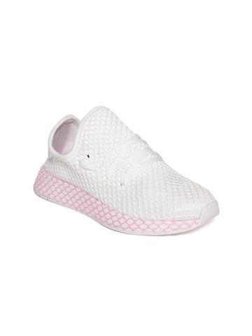 Adidas Originals Women White DEERUPT Casual Shoes Adidas Originals Casual Shoes at myntra