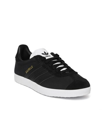 Adidas Originals Women Black Gazelle Snakeskin Texture Leather Sneakers Adidas Originals Casual Shoes at myntra