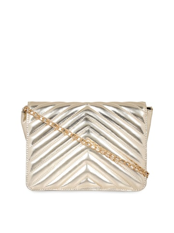 Berrypeckers Gold-Toned Solid Sling Bag Berrypeckers Handbags at myntra