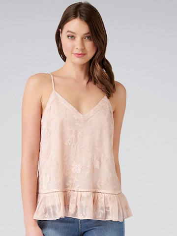 Forever New Women Peach-Coloured Self Design A-Line Top Forever New Tops at myntra
