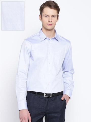 Blackberrys Men Blue Slim Fit Solid Formal Shirt Blackberrys Shirts at myntra